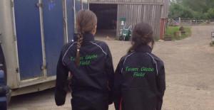 Caitlyn and Hettie having fun competing last weekend.