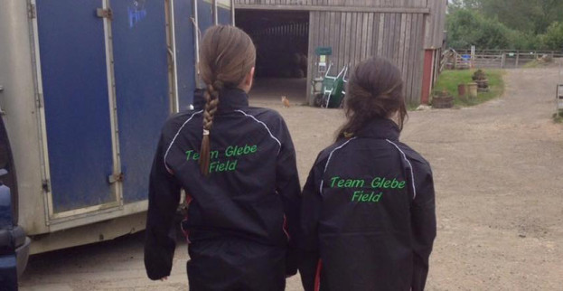 Caitlyn and Hettie having fun competing last weekend.